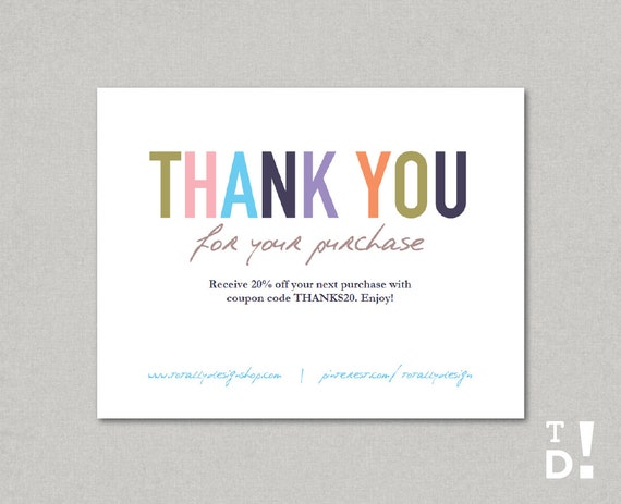 Popular Business Thank You Cards template INSTANT DOWNLOAD Naturally CH79