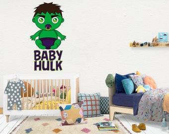 Hulk / Wall Vinyl Decal Sticker / Nursery Baby Toddler Kid Children Room / Decor Decoration / Gift Present / Baby shower Birthday
