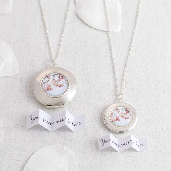 Personalised Magnolia Locket