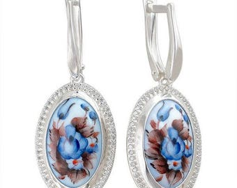 Gorgeous sterling silver women's earrings