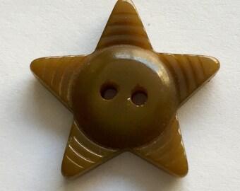 Vintage Bakelite Star Button - 1 Button