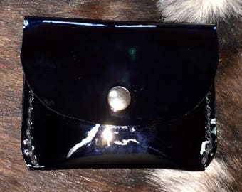 Black Patent Leather Coin/Card Purse