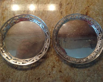 Two Mexican Sterling Silver Dishes or Plates