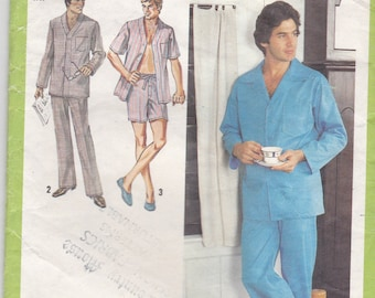 1980s Simplicity  Sewing Pattern No 6381  for Mens Pyjamas Size 38-40 Medium