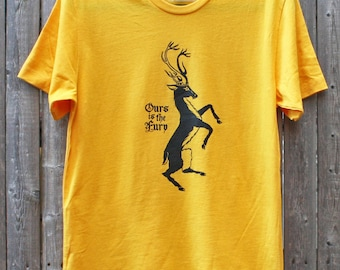 Game of Thrones House Baratheon Stag Sigil // Ours Is The Fury // Unisex tee shirt
