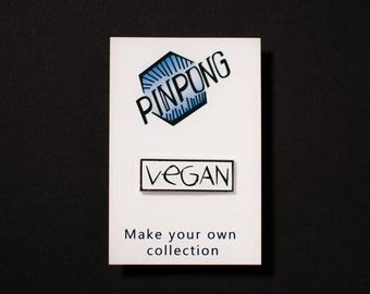Vegan pin - food pin - pin vegan - vegan pin badge - vegan pin enamel - pin badge - vegan patch - lapel pins men - enamel pin vegan
