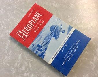 Vintage Airplane History Book, Airplane History 1911-1939, Aeroplane (Or Flying Machine) Scrap Book, Number 2