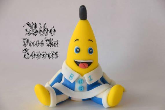Bananas in Pyjamas Fondant Cake Topper
