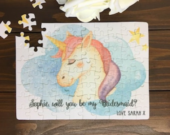 Will You Be My Flower Girl |Flower Girl Gift| Unicorn Gift| Unicorn Jigsaw| Flower Girl Proposal | Flower Girl Jigsaw |Thank you Flower Girl