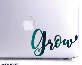 GROW - Original Word Decal / Vinyl Decal / Vinyl Sticker