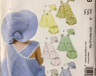 Baby's Dress, Panties and Hat Sewing Pattern McCall's 5353   Size Sm-Med-Lg-XL Uncut and Complete