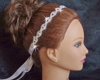 Wedding Hair, Wedding Headband, Wedding Tiara, Wedding Head Band, Rhinestone Head band, Bridal Tiara, Rhinestone Wedding Tiara, Wedding Halo