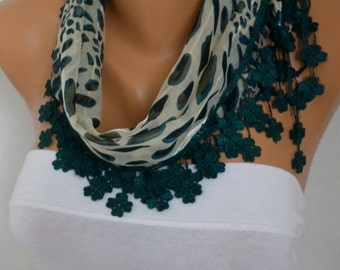 St. Patrick's Day Emerald Green Leopard Scarf Fall,Necklace Cotton Shawl Cowl Gift Ideas for her Women Fashion best selling item scarf