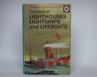 Ladybird Book Notebook - Lighthouses, Lightships and Lightboats handmade notebook