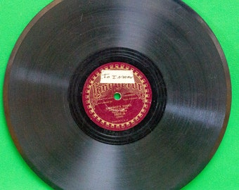 "1930 Conqueror Records 10"" Shellac 78RPM, Gene Autry, PlayRated Good"