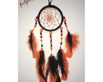 Orange & Black Dream Catcher