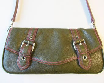 Wilsons Leather Small Dark Green Purse