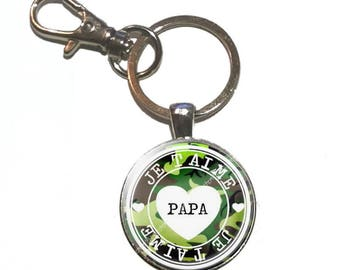 B2 Daddy glass cabochon keychain
