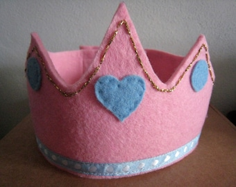 Child CROWN of felt-handmade