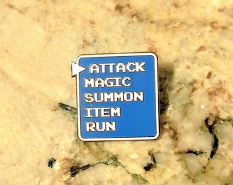 Final Fantasy Attack Battle Bar Enamel Pin
