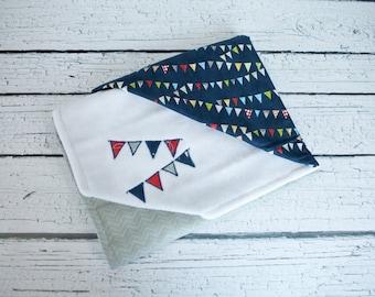 baby blanket applique banner bunting whimsical infant blanket baby boy shower gift