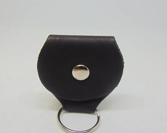 Leather Pick Wallet Keychain