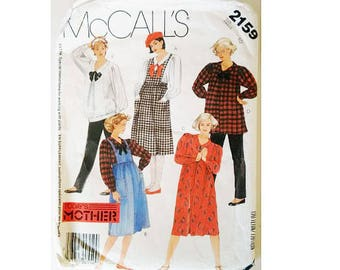 "McCall's 5159 Vintage 80's Maternity Dress Blouse Top and Trouser Pant Pattern Bust 32.5"" UK 10"