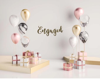 wedding decor, wedding decorations, engagement party, engagement decor, wedding banner, wedding sign, wedding, engagement banner, engaged