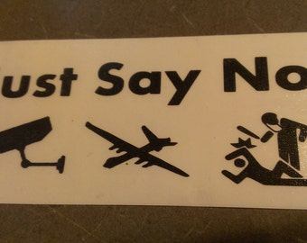 Just Say No Decal