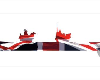 Queen Elizabeth Class Union Flag Print