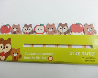 Lovely Squirrel Memos - 120 sheets