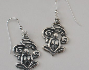 Sterling Silver GODDESS Earrings -  Fertility, Abundance