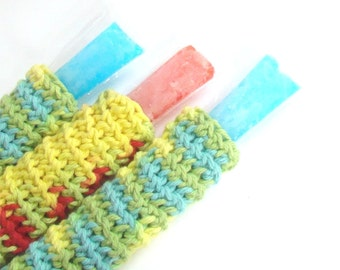Popsicle Crochet Pattern - Summer Crochet - Freezer Pop Cover -Popsicle Cozy - Party Favor PDF PATTERN