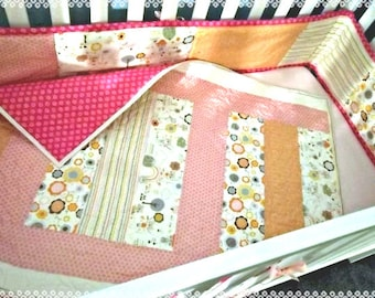 Easy Strips Baby Quilt Pattern Tutorial w photos pdf. Easy to Make, Instant Download