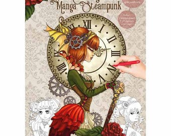 Coloring book 21 x 29, 7-32 pages - Manga Steampunk