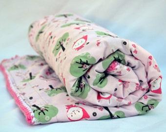 Pink bunny crochet baby blanket, granny square, baby blanket, crochet blanket, reversible crochet baby blanket, Easter baby blanket, afghan