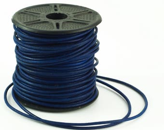 1.5mm Natural Blue Indian Leather Cord - By The Yard