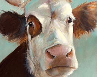 Cow Painting - Beatrice - Paper Giclee Print