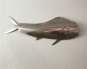 "36"" Mahi Mahi, Stainless steel dirado, Dolphin Fish,"