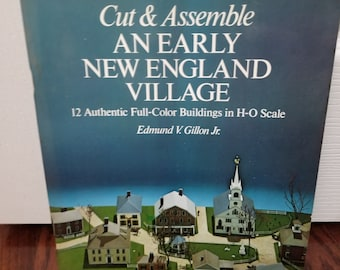 Cut & Assemble Early New England Village book