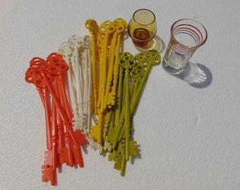 Key Swizzle Sticks and Shot Glasses