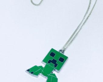 Creeper Minecraft Chain necklace