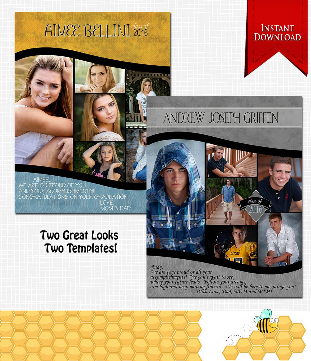 Downloadable Yearbook Ad Template PHOTOSHOP REQUIRED