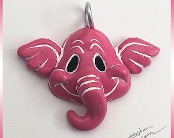 Pink Elephant Pendant