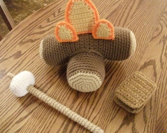 Crochet Campfire S'mores Set, Made to Order
