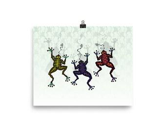 DANCING FROGS Poster