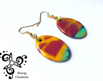 Arlequin earring - Modeling clay