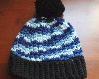 Crochet Beanie Hat with Pompom