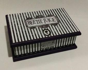 Strange & Unusual Stripes Keepsake Box, Memory Box, Collectors Box, Jewellery Box, Wooden Box