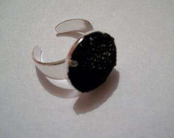 Handmade Black Lace ring